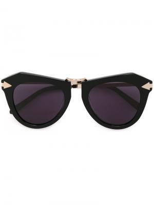 Солнцезащитные очки One Orbit Karen Walker Eyewear. Цвет: чёрный