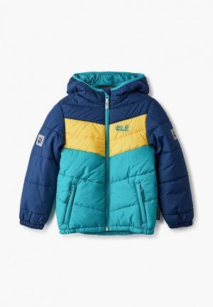 Куртка утепленная Jack Wolfskin. Цвет: разноцветный