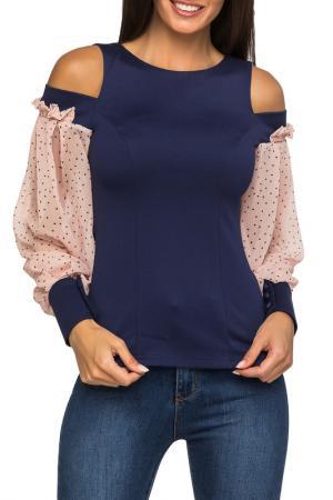 Блузка GLOSS. Цвет: синий