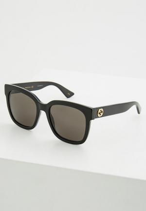 Очки солнцезащитные Gucci. Цвет: черный