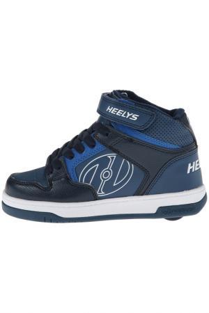 Роликовые кроссовки HEELYS. Цвет: синий
