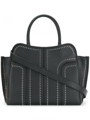 Большая сумка-тоут Sella Tods Tod's. Цвет: чёрный