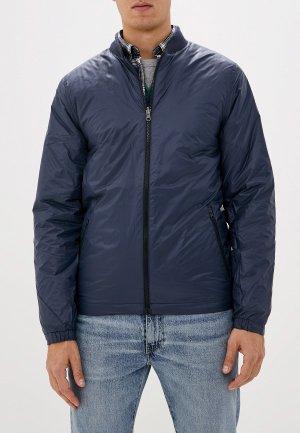 Куртка утепленная Quiksilver. Цвет: синий