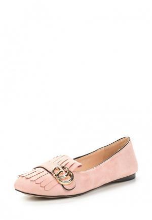 Лоферы Bona Dea. Цвет: розовый