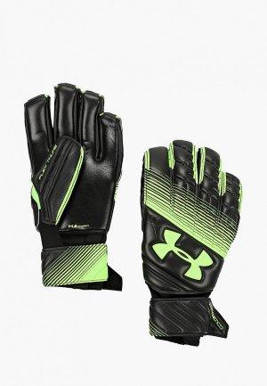 Перчатки вратарские Under Armour. Цвет: зеленый