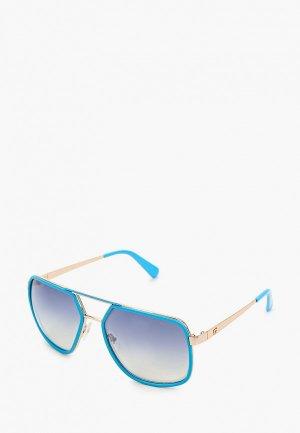 Очки солнцезащитные Guess. Цвет: голубой