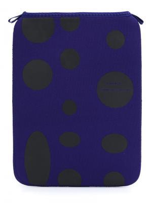 Чехол для планшета в горох Comme Des Garçons Wallet. Цвет: синий