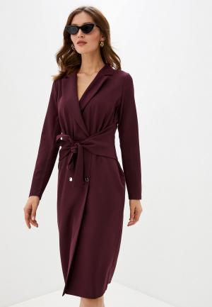 Платье Adzhedo. Цвет: бордовый