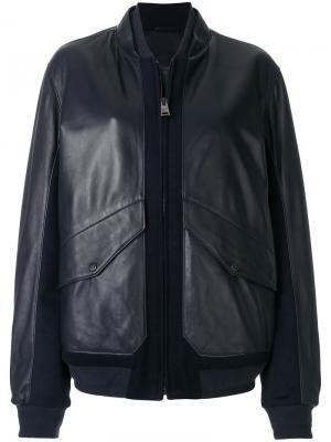 Куртка бомбер с панельным дизайном Liska. Цвет: синий