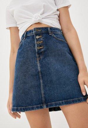Юбка джинсовая Lee. Цвет: синий