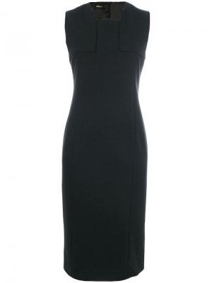 Классическое приталенное платье Les Copains. Цвет: серый