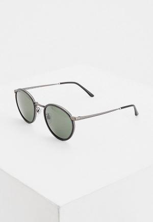 Очки солнцезащитные Giorgio Armani. Цвет: черный
