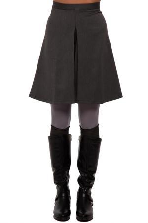 Юбка Gloss. Цвет: темно-серый