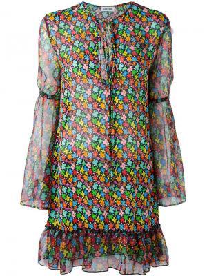 Платье с цветочным принтом Au Jour Le. Цвет: многоцветный