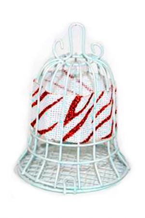 Колокол-шкатулка для елки DUE ESSE CHRISTMAS. Цвет: белый