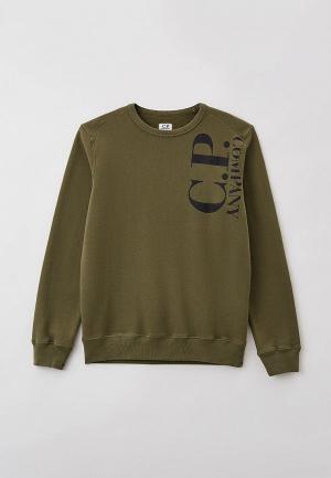 Свитшот C.P. Company. Цвет: хаки