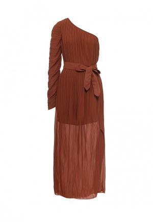 Платье Paccio. Цвет: коричневый
