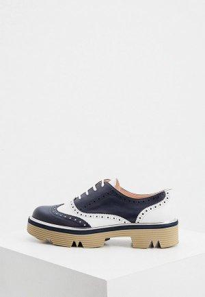 Ботинки Pollini. Цвет: синий