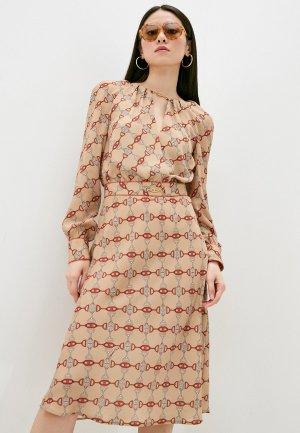Платье Elisabetta Franchi. Цвет: бежевый
