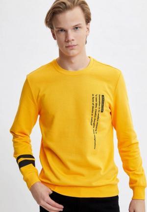 Свитшот DeFacto. Цвет: желтый