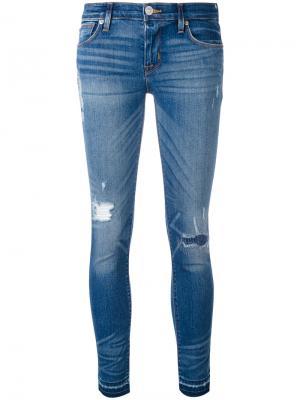 Супер-узкие джинсы Hudson. Цвет: синий