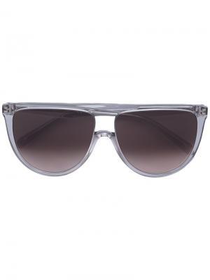 Солнцезащитные очки с квадратной оправой Céline Eyewear. Цвет: серый