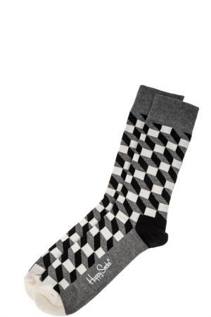 Носки HAPPY SOCKS. Цвет: серый