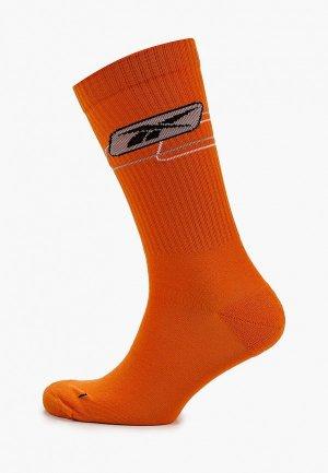 Носки Reebok Classic. Цвет: оранжевый