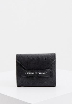Кошелек Armani Exchange. Цвет: черный