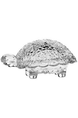 Доза Черепаха, 12 см CRYSTAL BOHEMIA. Цвет: прозрачный