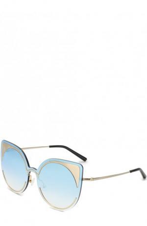 Солнцезащитные очки Matthew Williamson. Цвет: голубой
