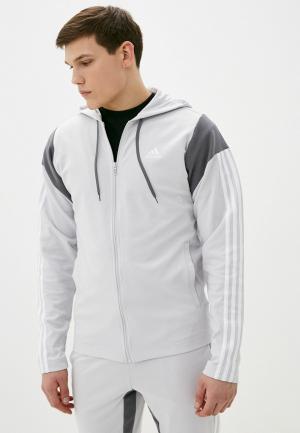 Костюм спортивный adidas. Цвет: серый