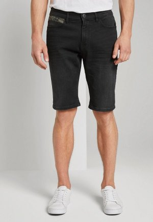 Шорты джинсовые Tom Tailor. Цвет: черный