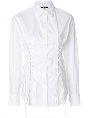 Рубашка-корсет McQ Alexander McQueen. Цвет: белый