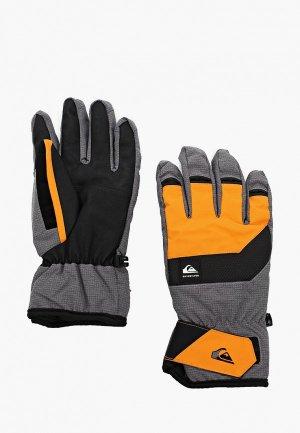 Перчатки горнолыжные Quiksilver. Цвет: серый