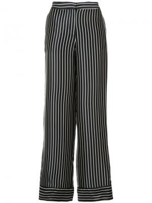 Широкие брюки в полоску Yigal Azrouel. Цвет: чёрный