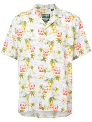 Рубашка с рисунком в гавайском стиле Gitman Vintage. Цвет: многоцветный