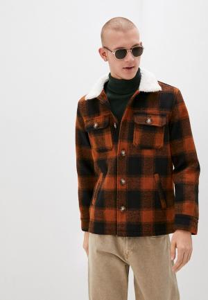 Куртка утепленная Brave Soul. Цвет: коричневый