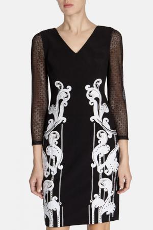 Платье KAREN MILLEN. Цвет: blacwh