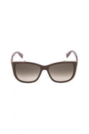 Солнцезащитные очки FURLA. Цвет: коричневый