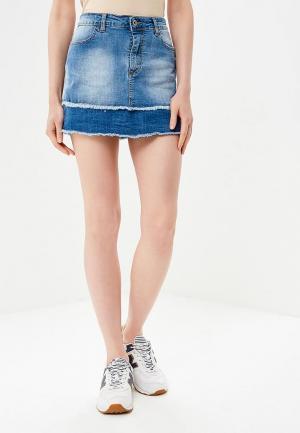 Юбка джинсовая Fornarina. Цвет: синий