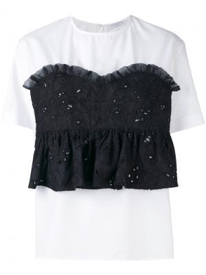 Блузка с имитацией вышитого корсета Vivetta. Цвет: белый
