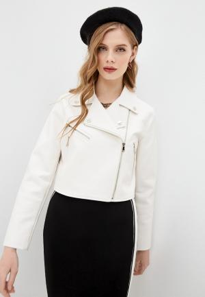 Куртка кожаная Twinset Milano. Цвет: белый