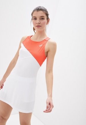 Платье ASICS. Цвет: белый