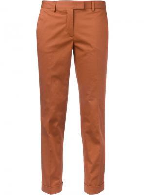 Укороченные брюки-чинос Alberto Biani. Цвет: жёлтый и оранжевый