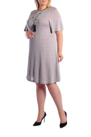 Платье Forus. Цвет: серебряный