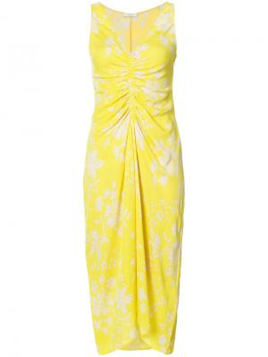 Платье с V-образным вырезом A.L.C.. Цвет: жёлтый и оранжевый