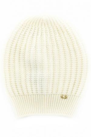 Шапка LUISA SPAGNOLI. Цвет: белый
