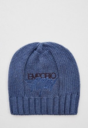 Шапка Emporio Armani. Цвет: синий