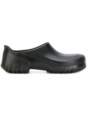 Лоферы на низком каблуке Birkenstock. Цвет: чёрный